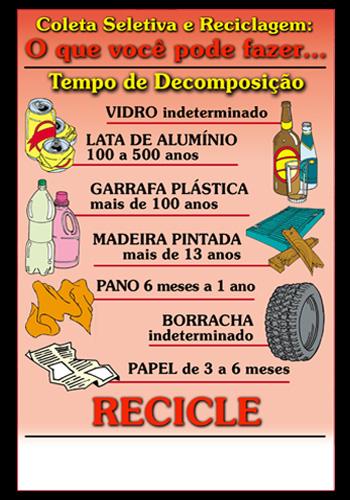 Cartaz - Coleta Seletiva e Reciclagem / cód.RECO-99